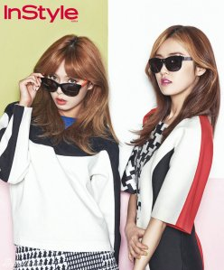 Hyuna and Gayoon 4minute InStyle Magazine May 2013 (2)