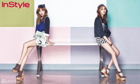 Hyuna and Gayoon 4minute InStyle Magazine May 2013 (4)