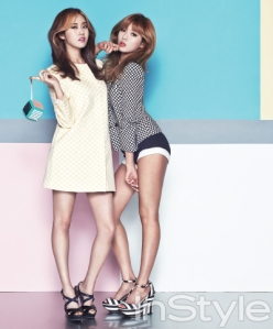 Hyuna and Gayoon 4minute InStyle Magazine May 2013 (7)