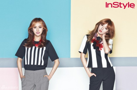 Hyuna and Gayoon 4minute InStyle Magazine May 2013
