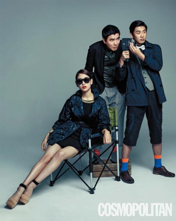 Park Shin Hye, Yoon Kye Sang and Kim Ji Woon - Cosmopolitan Magazine May 2013 3